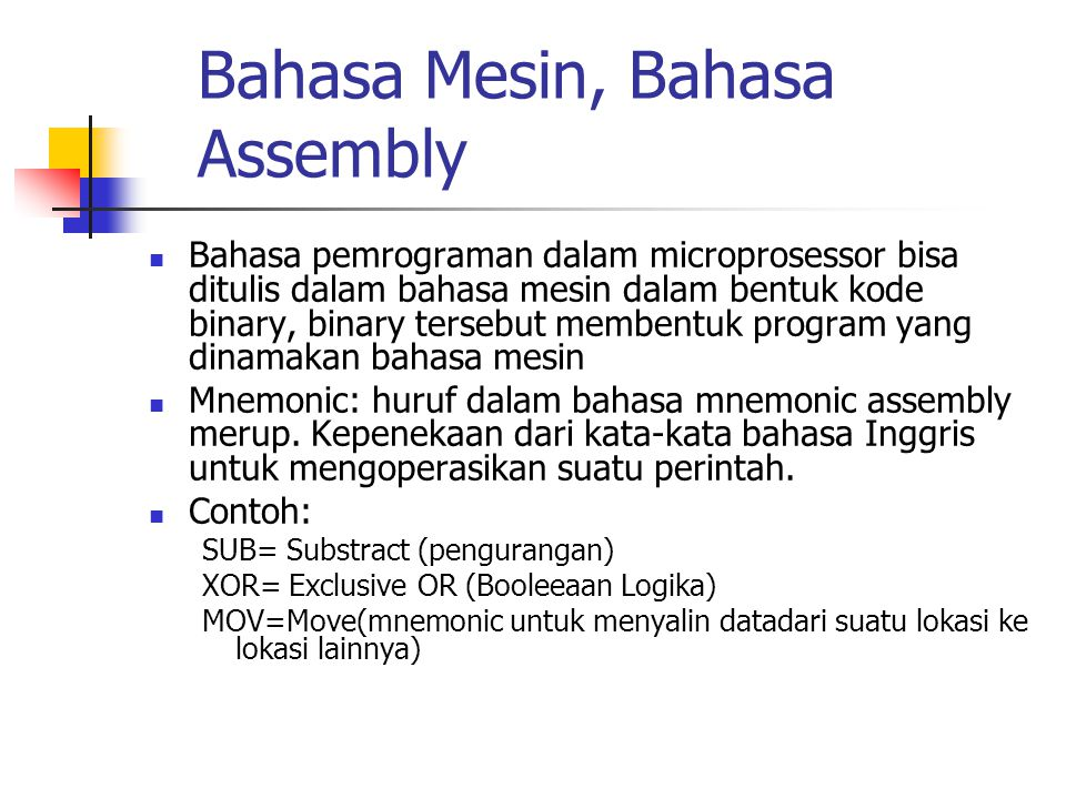 Bahasa Mesin, Bahasa Assembly