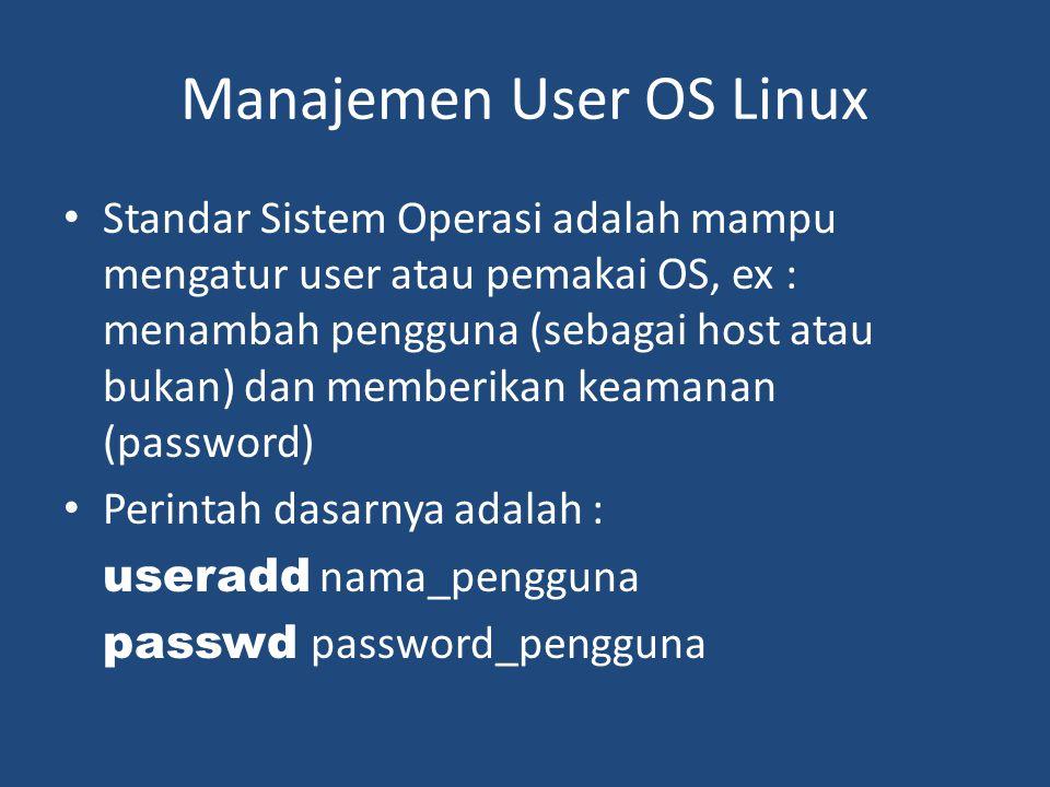 Manajemen User OS Linux