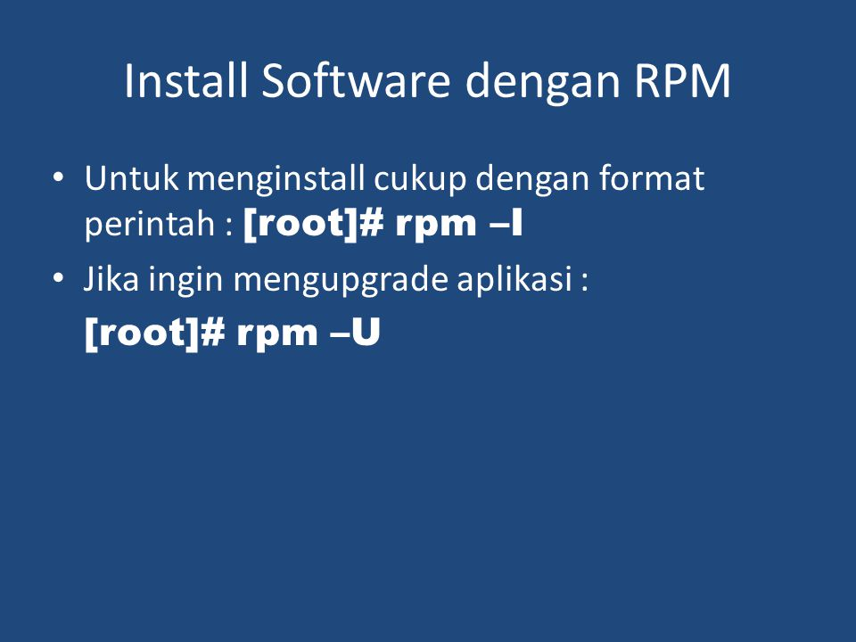 Install Software dengan RPM