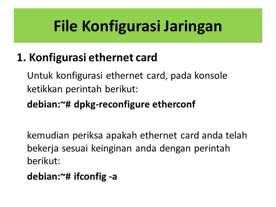 File Konfigurasi Jaringan
