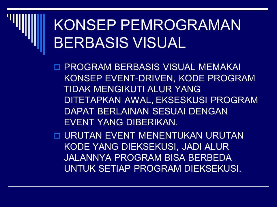 KONSEP PEMROGRAMAN BERBASIS VISUAL