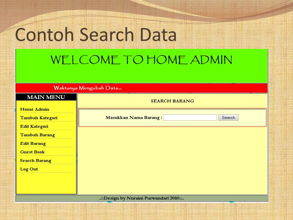 Contoh Search Data