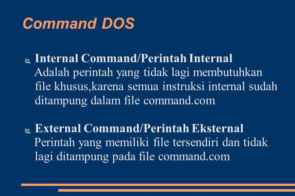 Command DOS Internal Command/Perintah Internal