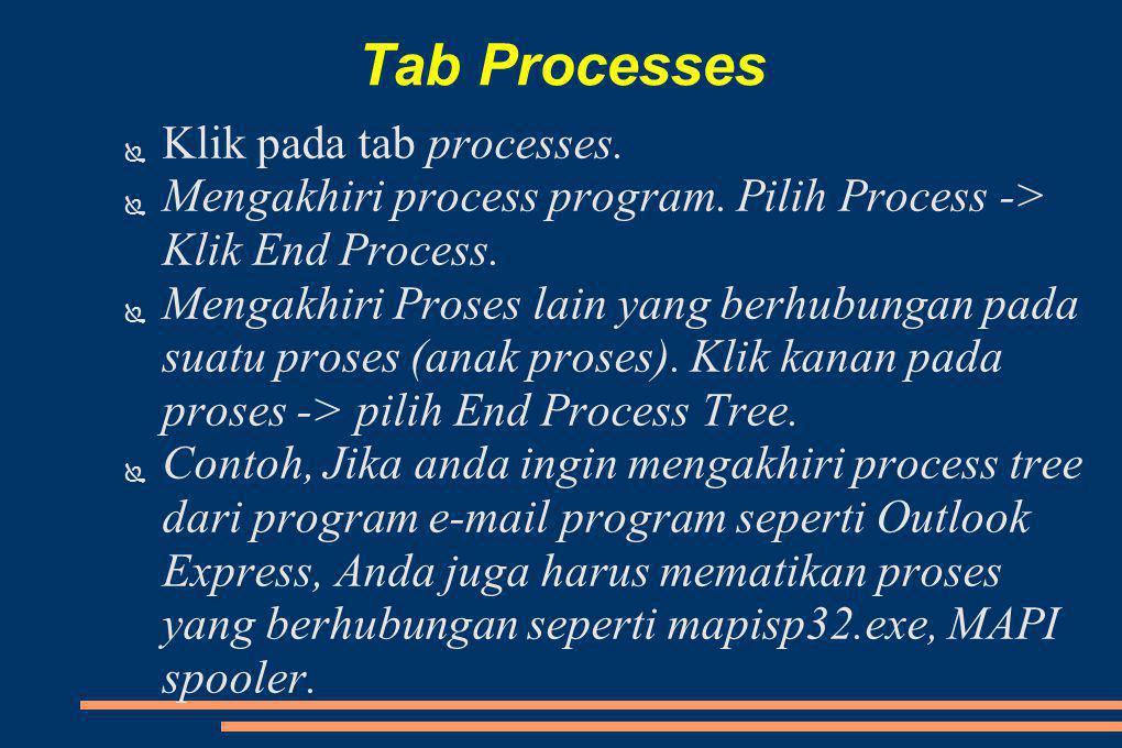Tab Processes Klik pada tab processes.