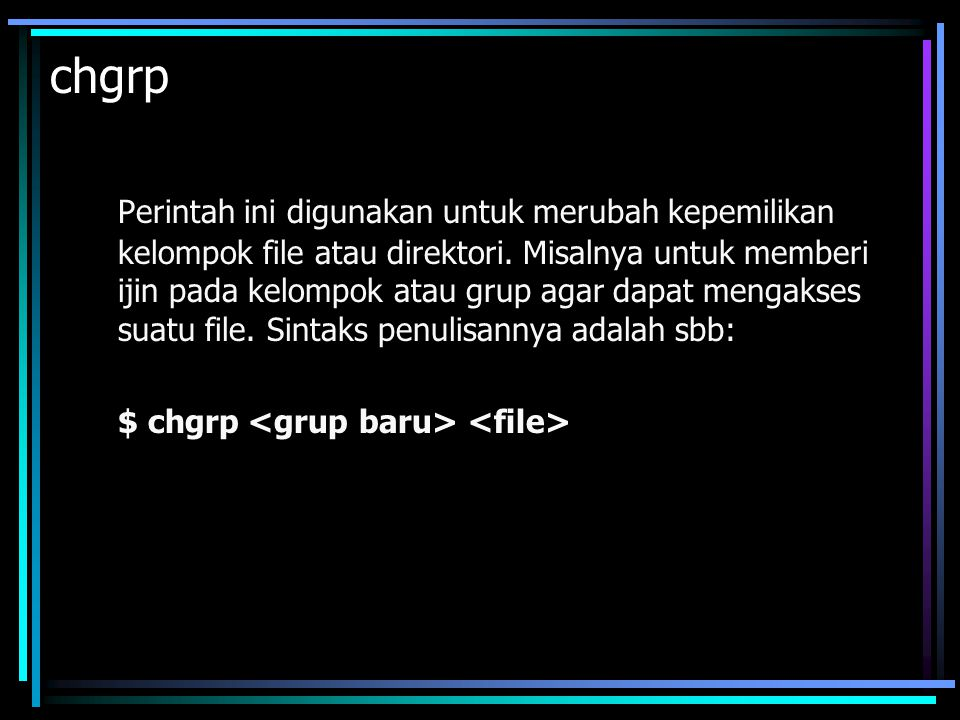 chgrp
