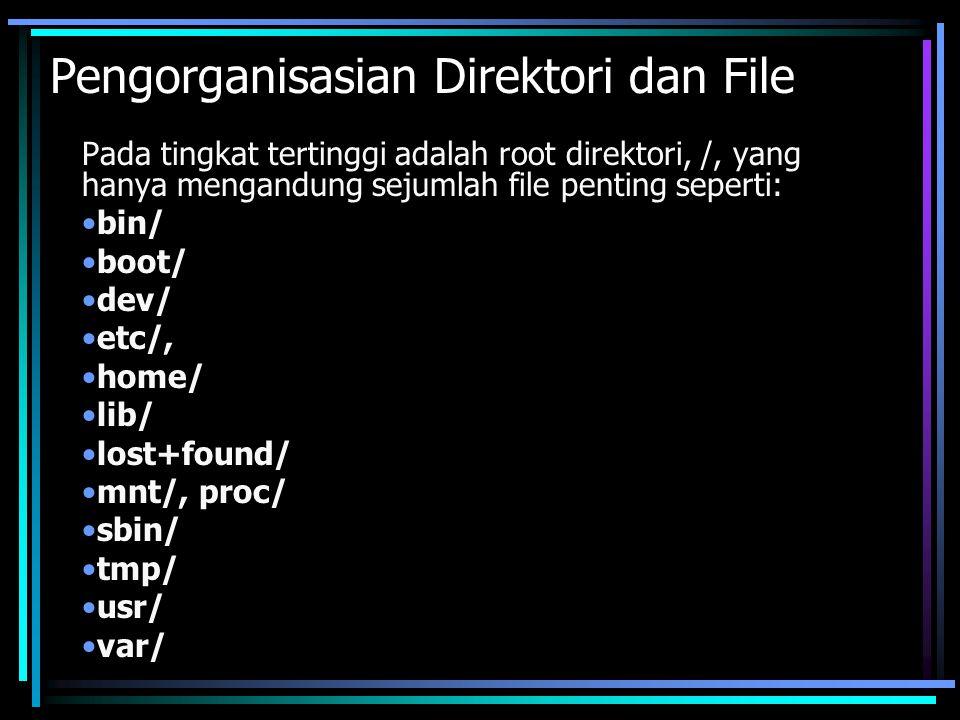 Pengorganisasian Direktori dan File