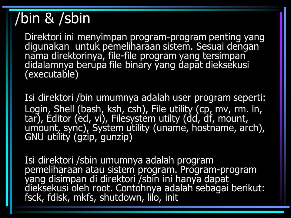 /bin & /sbin