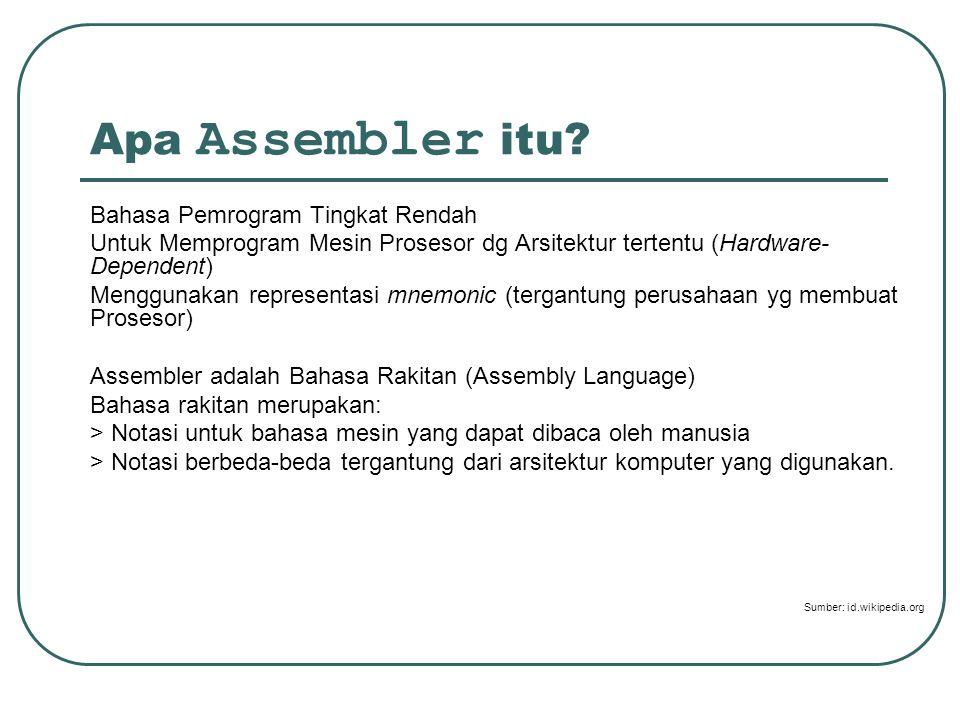 Apa Assembler itu Bahasa Pemrogram Tingkat Rendah
