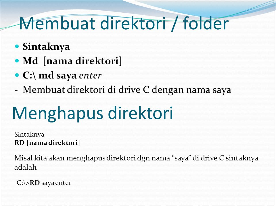 Membuat direktori / folder