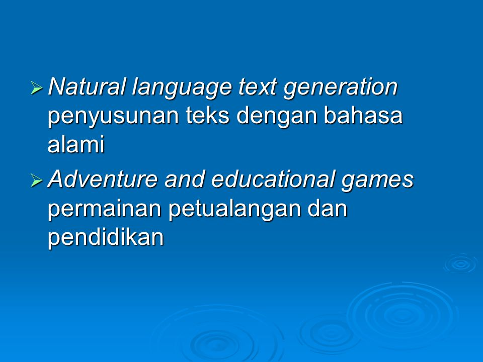 Natural language text generation penyusunan teks dengan bahasa alami
