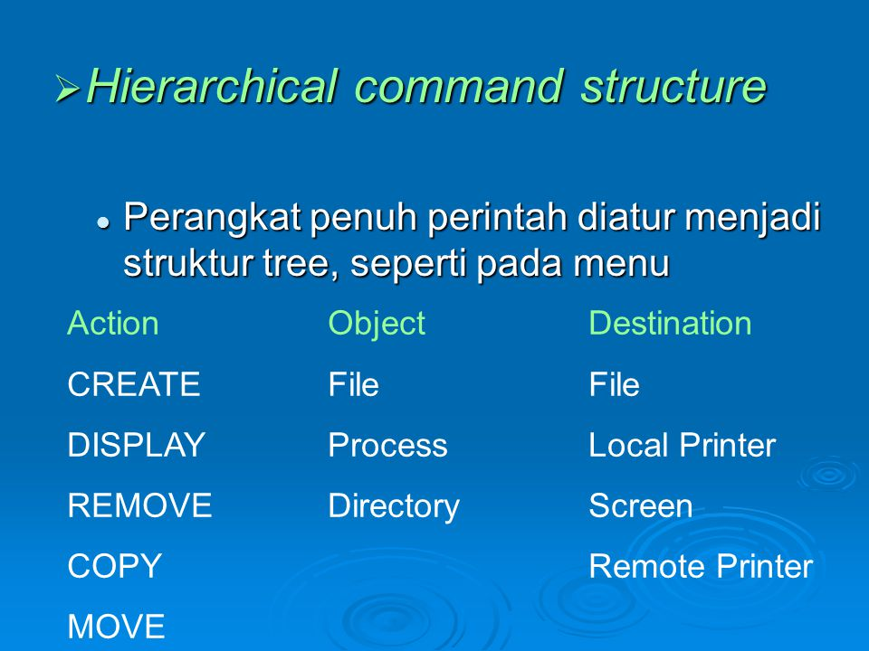 Hierarchical command structure