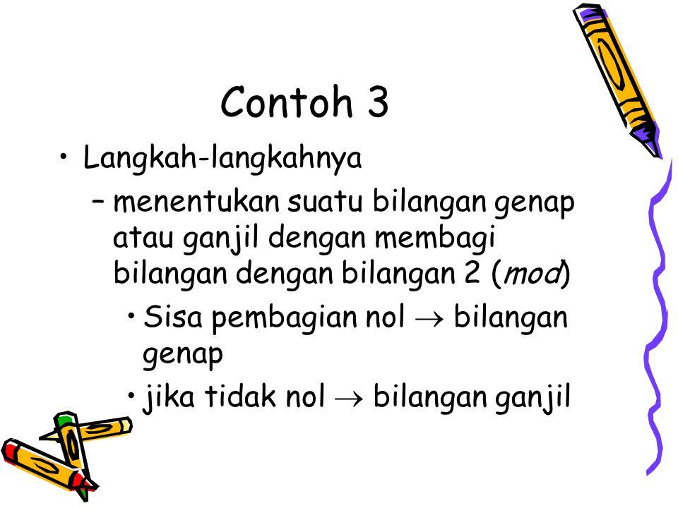 Contoh 3 Langkah-langkahnya