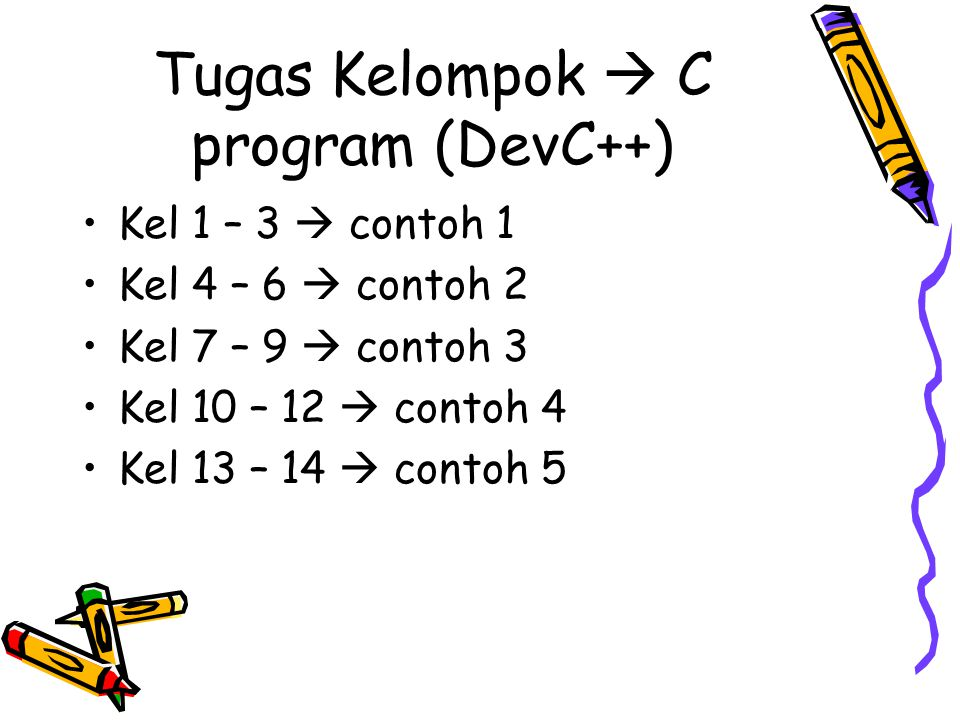 Tugas Kelompok  C program (DevC++)