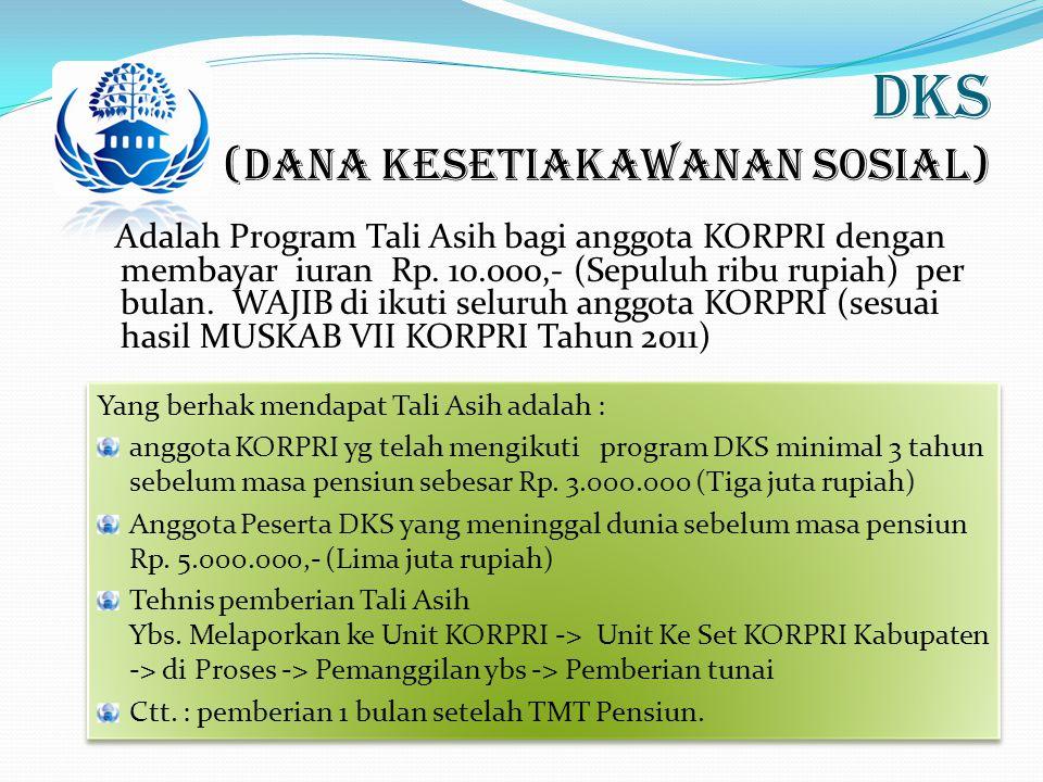 DKS (Dana Kesetiakawanan Sosial)
