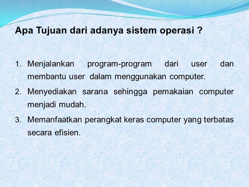Apa Tujuan dari adanya sistem operasi