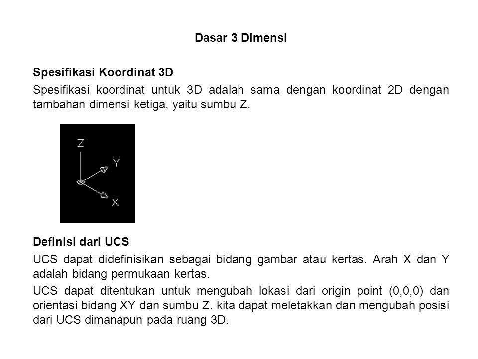 Dasar 3 Dimensi Spesifikasi Koordinat 3D.