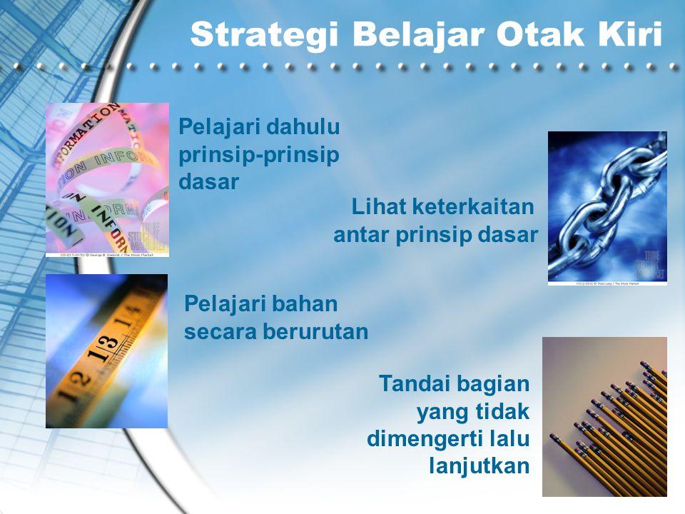 Strategi Belajar Otak Kiri
