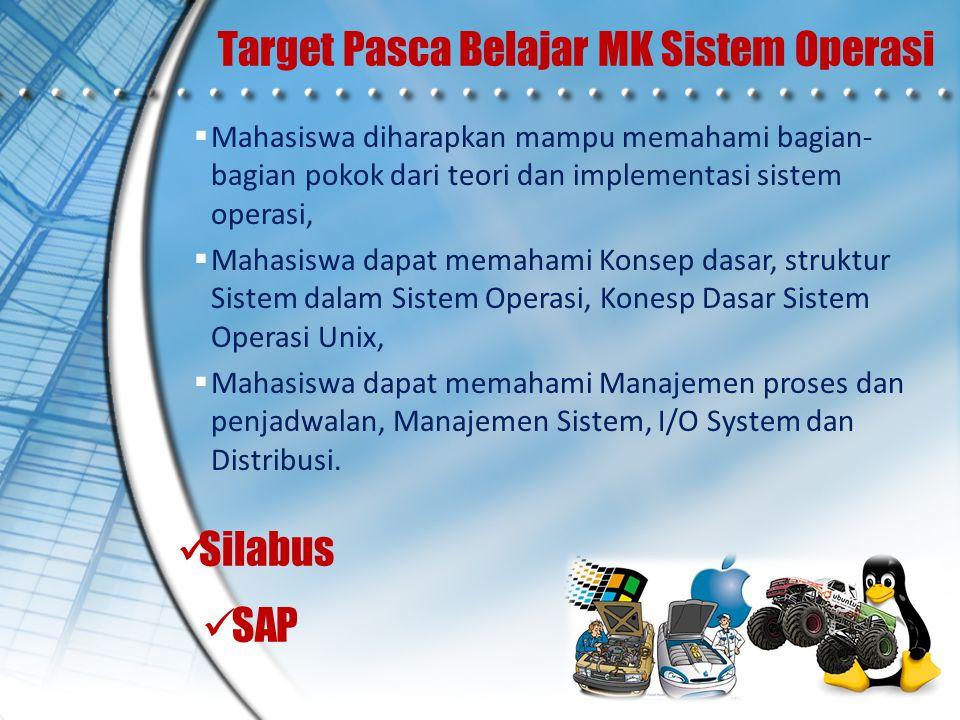 Target Pasca Belajar MK Sistem Operasi