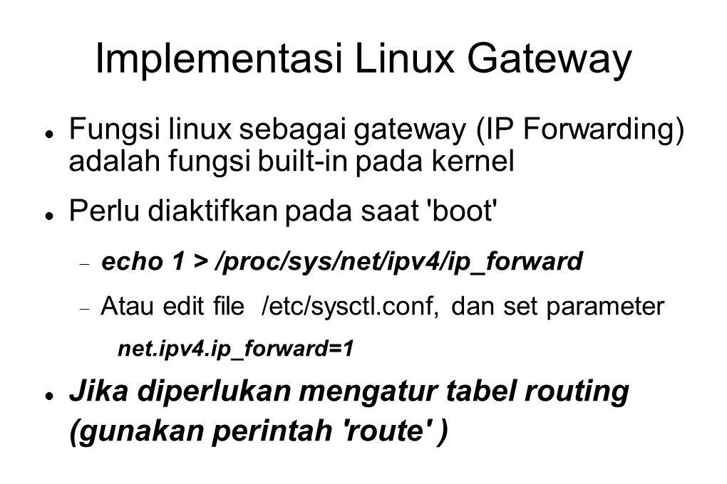 Implementasi Linux Gateway