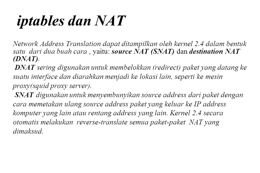 iptables dan NAT