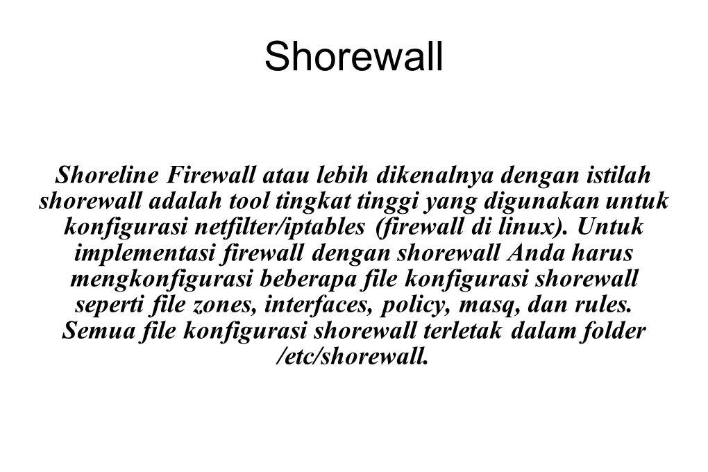 Shorewall