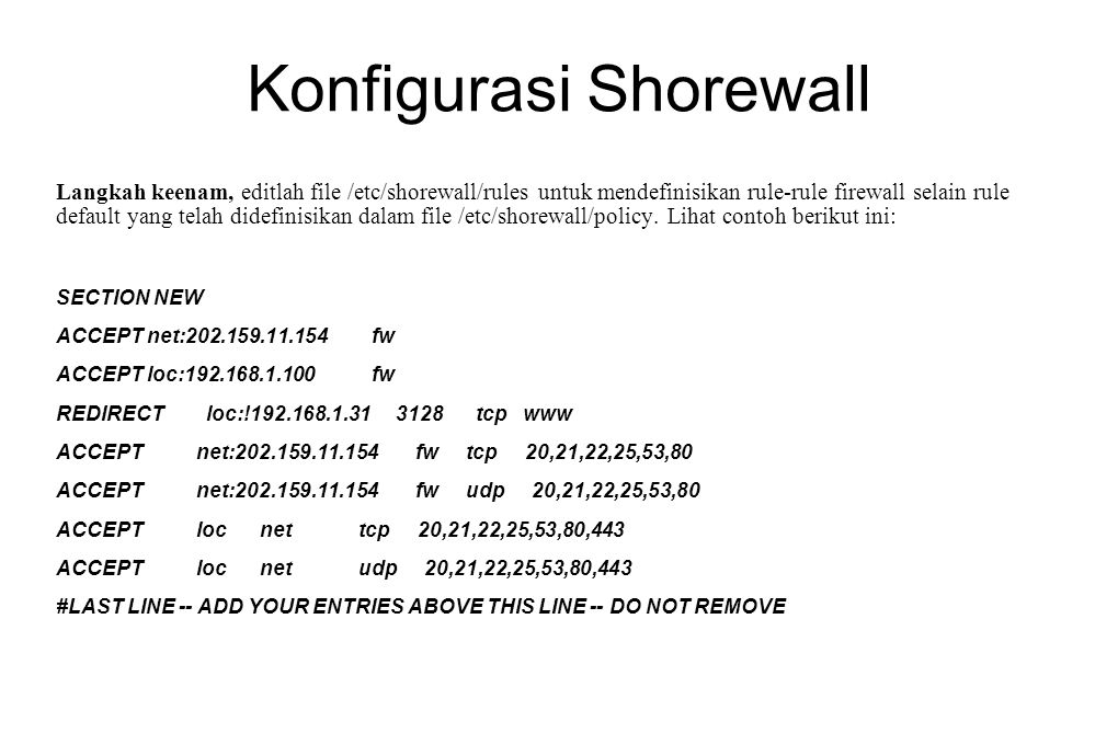 Konfigurasi Shorewall
