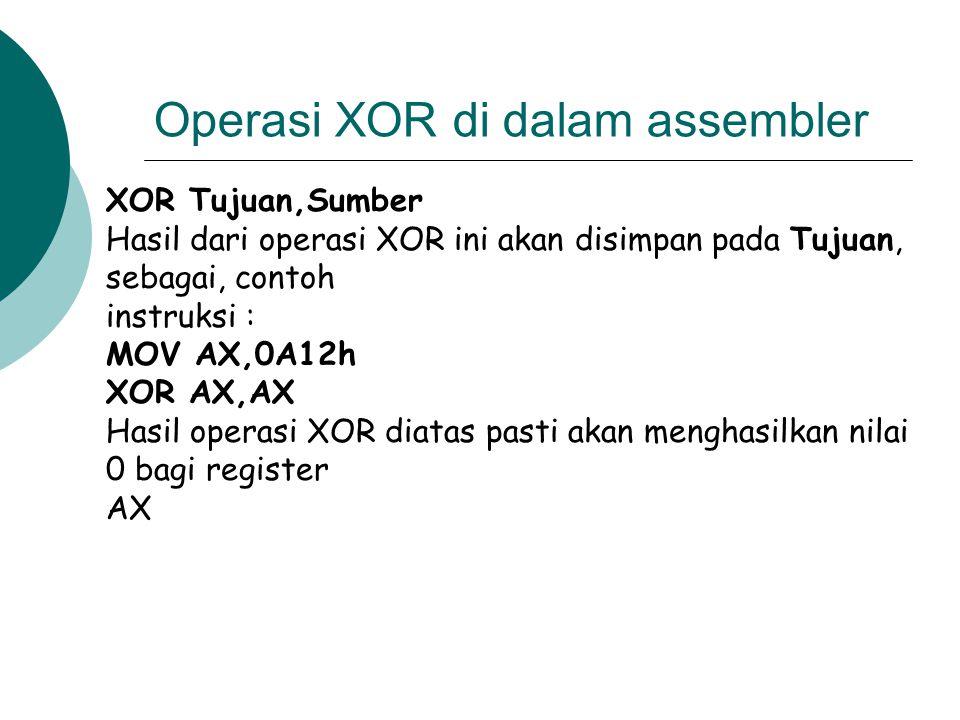 Operasi XOR di dalam assembler