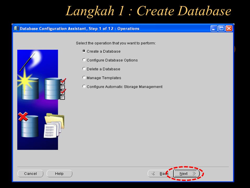 Langkah 1 : Create Database