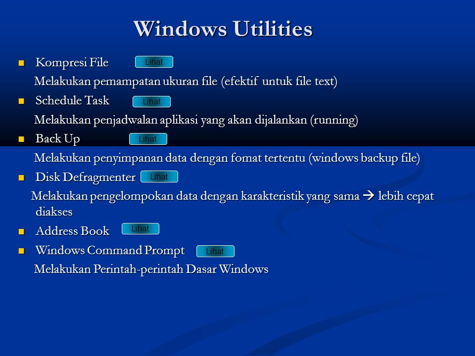 Windows Utilities Kompresi File