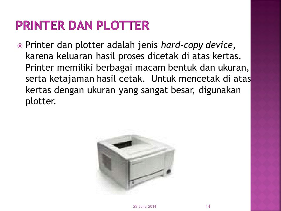 Printer dan Plotter