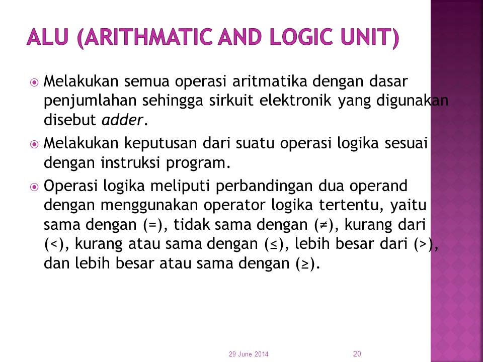 ALU (Arithmatic and Logic Unit)
