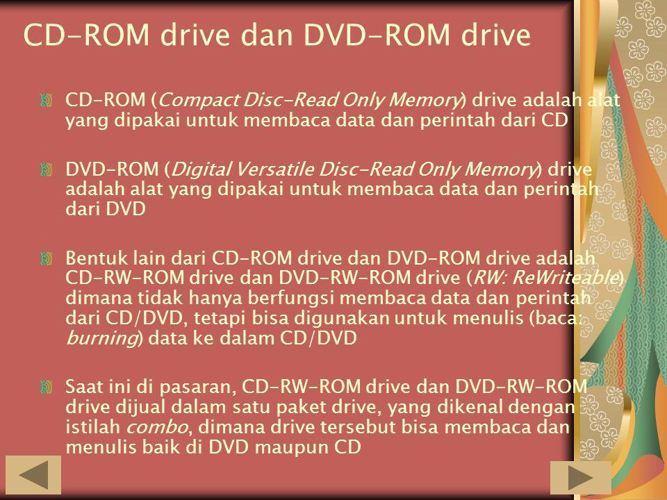 CD-ROM drive dan DVD-ROM drive