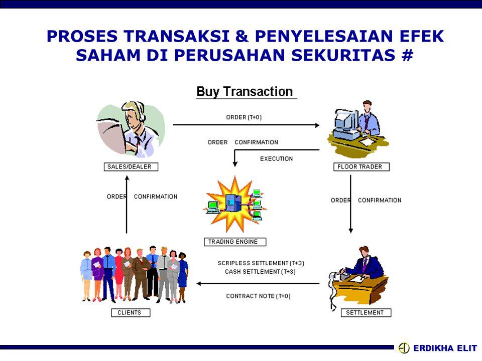 PROSES TRANSAKSI & PENYELESAIAN EFEK SAHAM DI PERUSAHAN SEKURITAS #