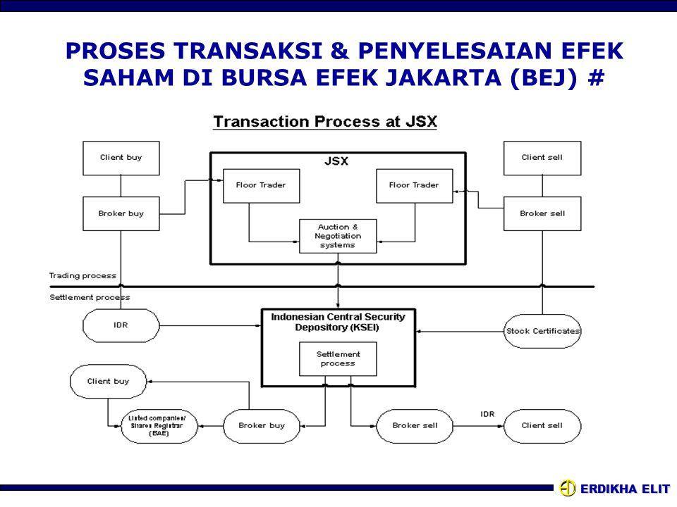 PROSES TRANSAKSI & PENYELESAIAN EFEK SAHAM DI BURSA EFEK JAKARTA (BEJ) #