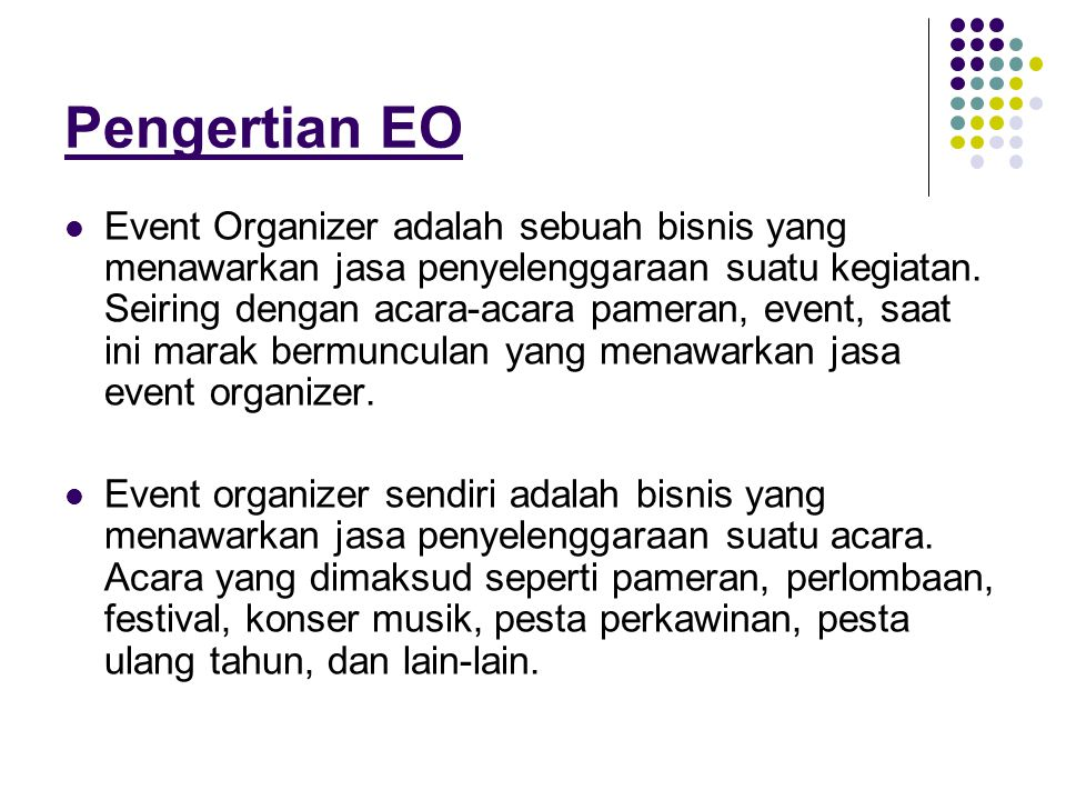 Pengertian EO