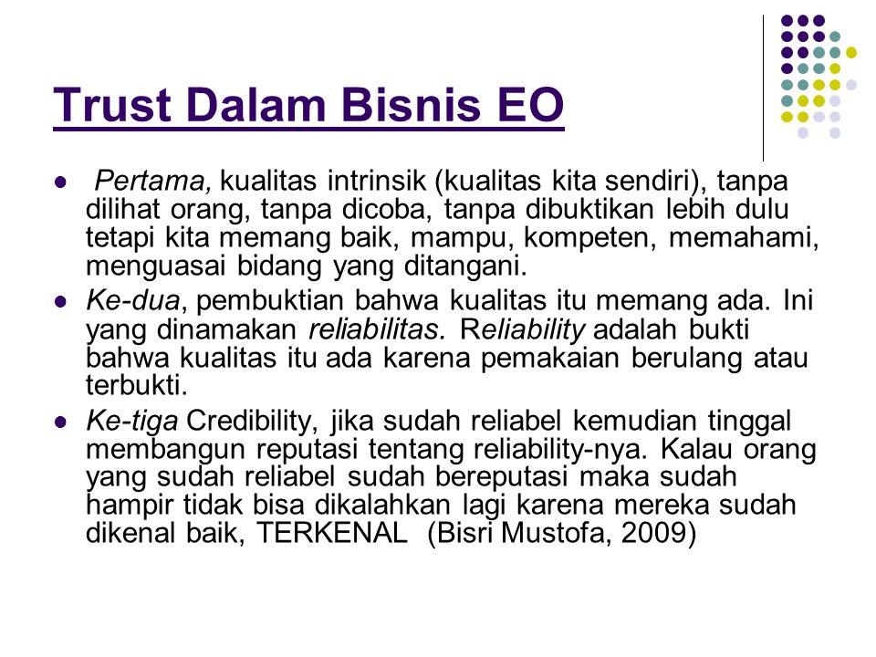 Trust Dalam Bisnis EO