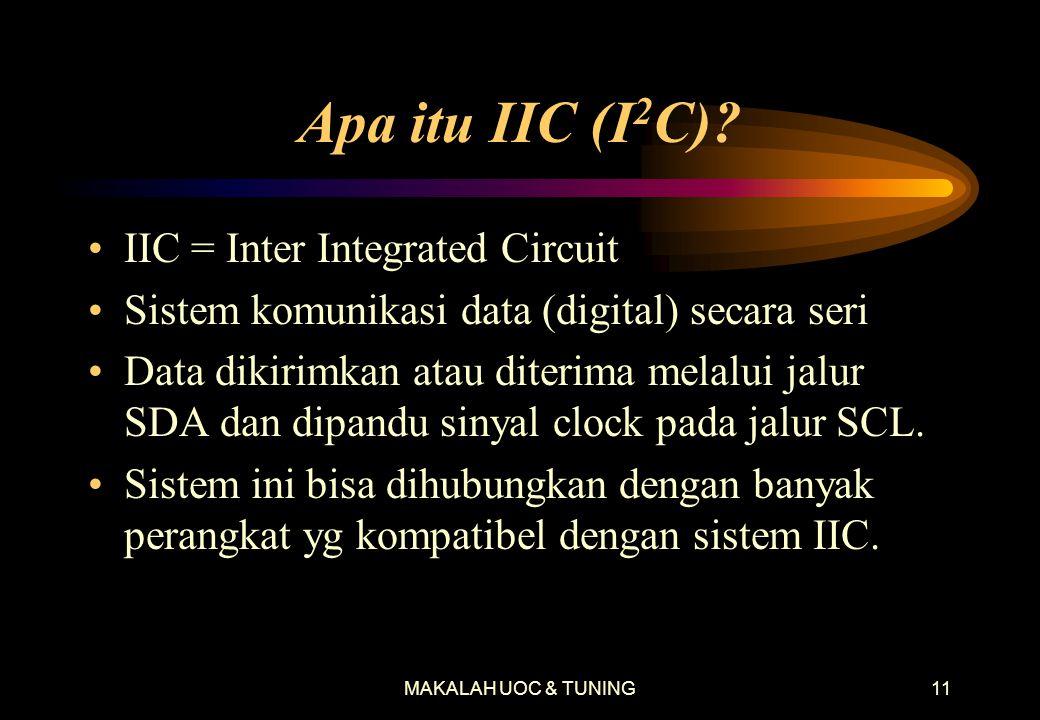 Apa itu IIC (I2C) IIC = Inter Integrated Circuit