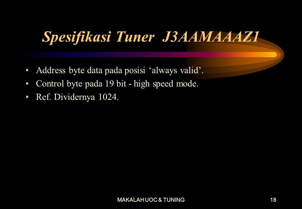 Spesifikasi Tuner J3AAMAAAZ1