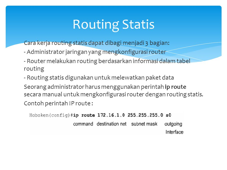 Routing Statis