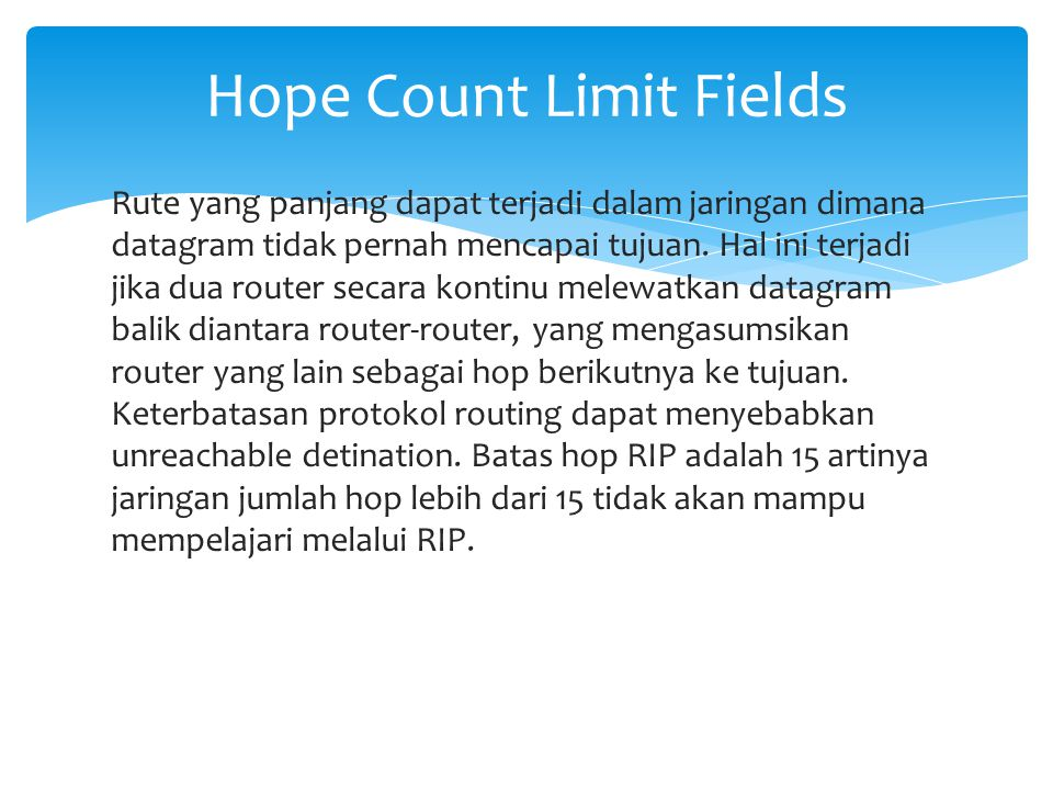 Hope Count Limit Fields