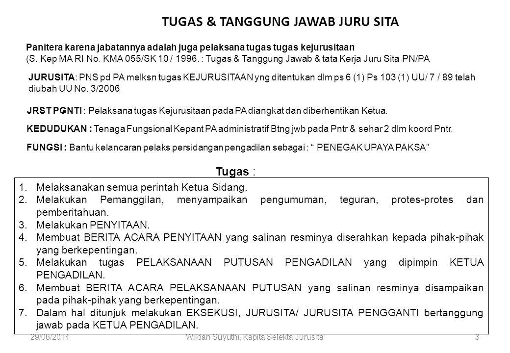 TUGAS & TANGGUNG JAWAB JURU SITA
