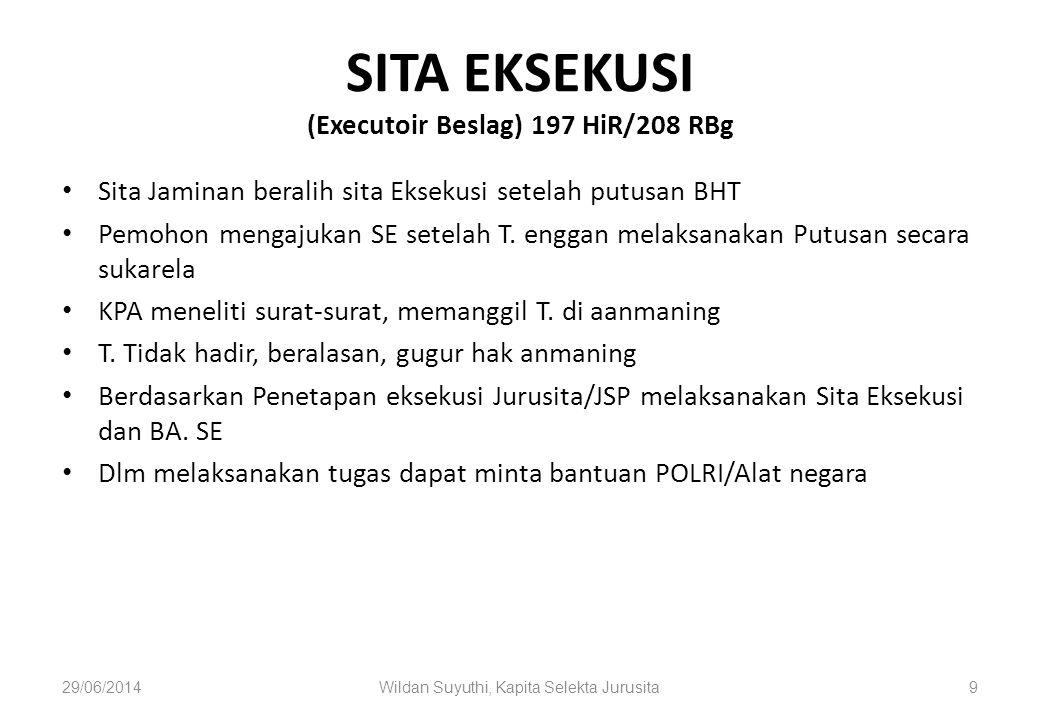 SITA EKSEKUSI (Executoir Beslag) 197 HiR/208 RBg