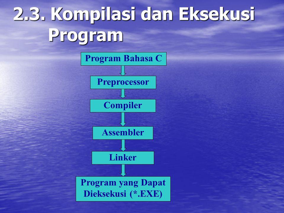 2.3. Kompilasi dan Eksekusi Program