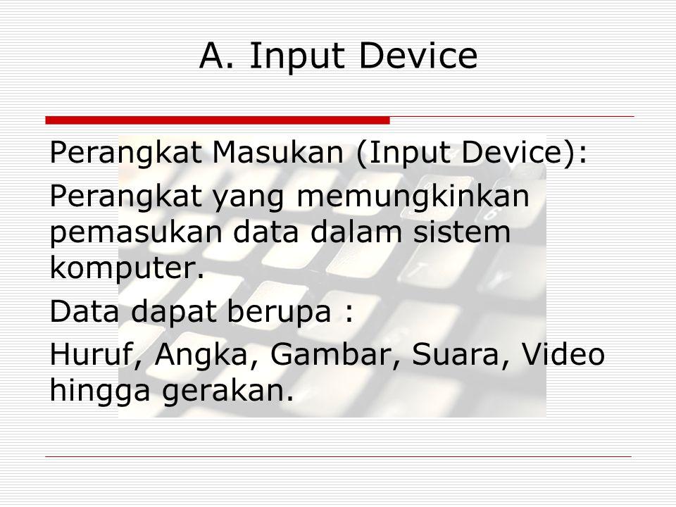 A. Input Device Perangkat Masukan (Input Device):
