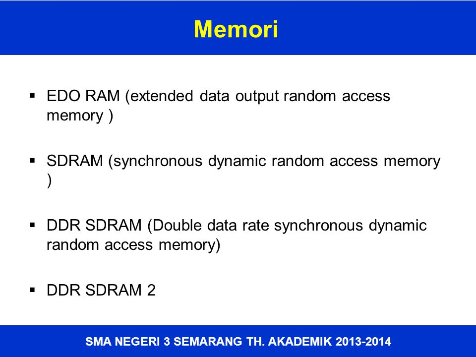 Memori EDO RAM (extended data output random access memory )