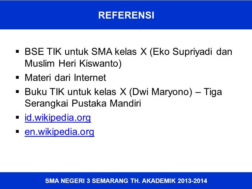 SMA NEGERI 3 SEMARANG TH. AKADEMIK 2013-2014