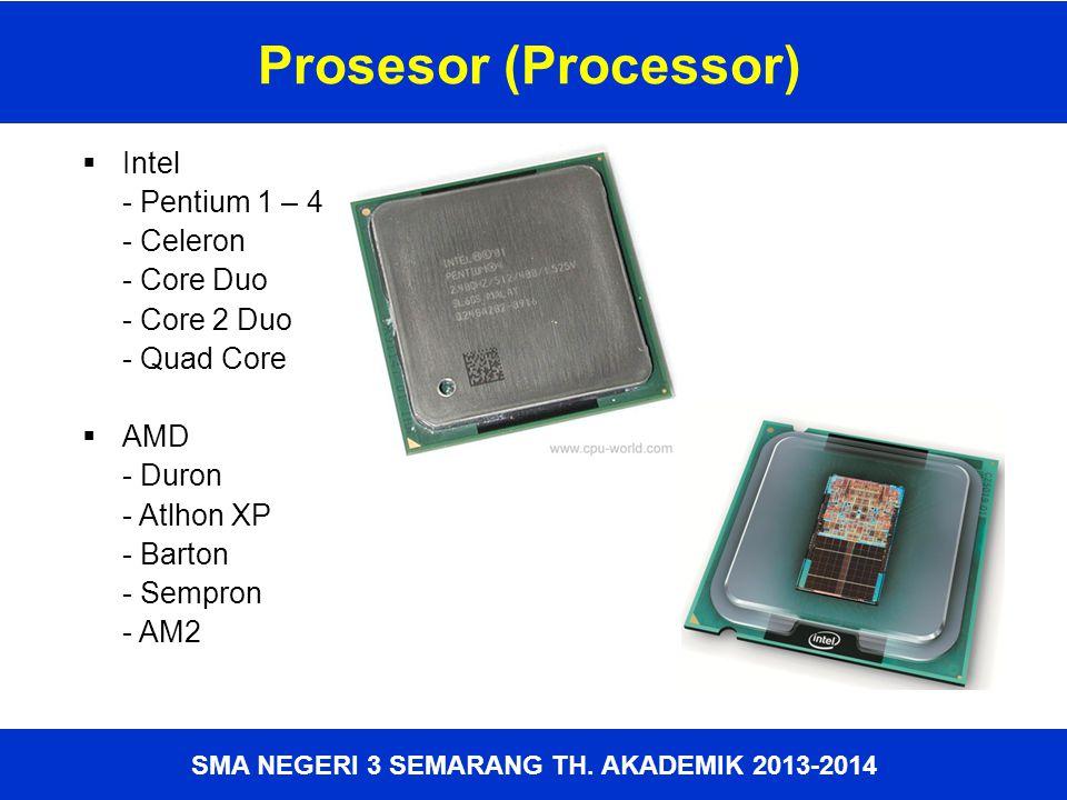 Prosesor (Processor) Intel - Pentium 1 – 4 - Celeron - Core Duo