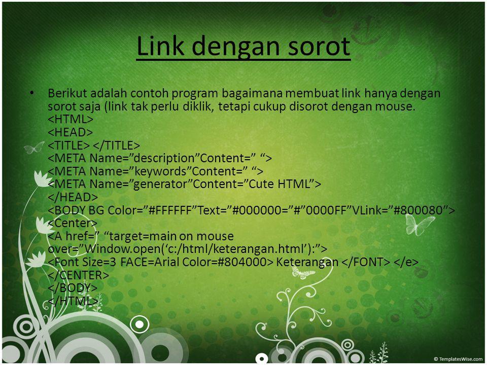 Link dengan sorot