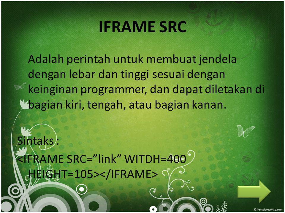 IFRAME SRC