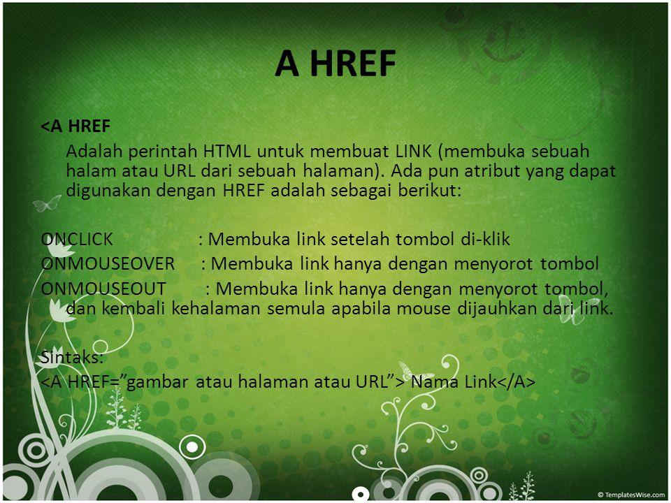 A HREF